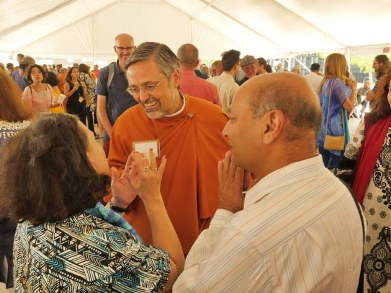 Expand Its Reach- Convocation Attendees Visit with SRF Monastic