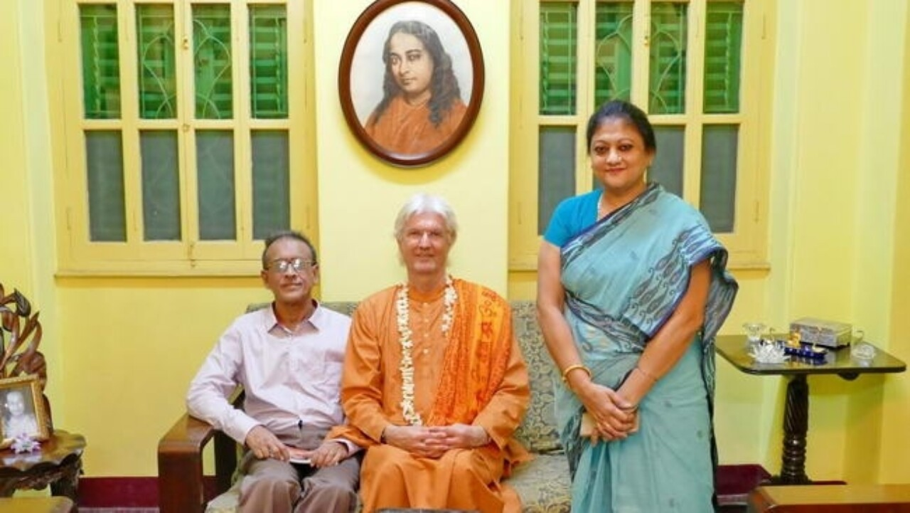 Brother Chidananda At Yogananda's Childhood Home