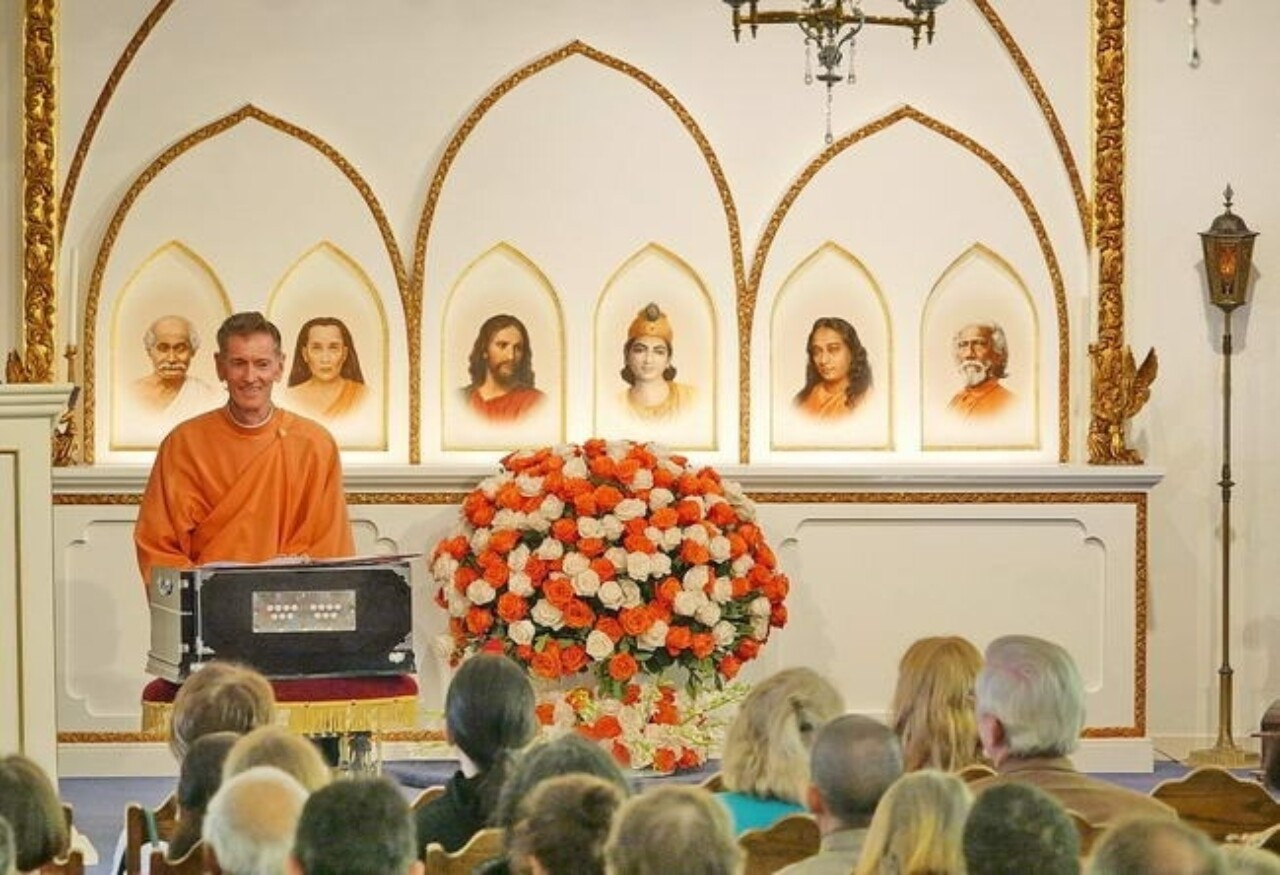 Brother Anilananda special service Hollywood Temple 75th anniversary