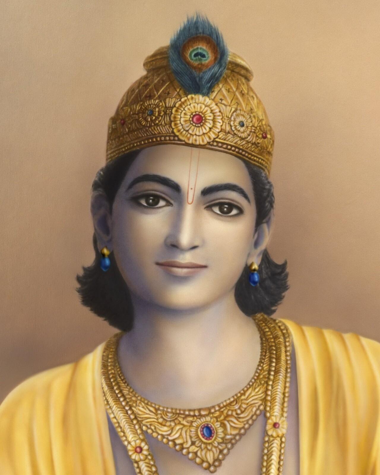 Bhagavan Krishna Altar Image 1280 Px Wide