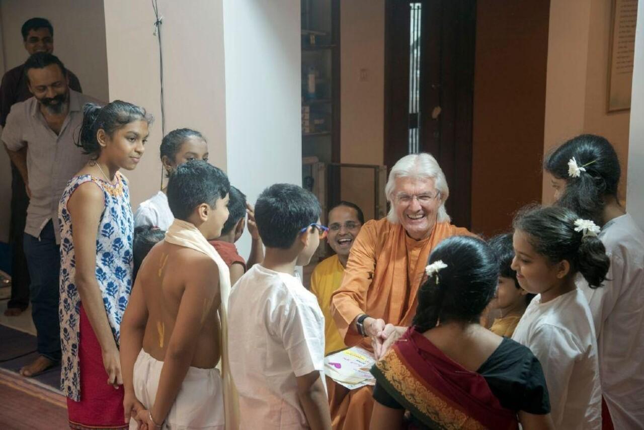 Brother Chidananda Mumbai November 10 Greeting Sunday School Children