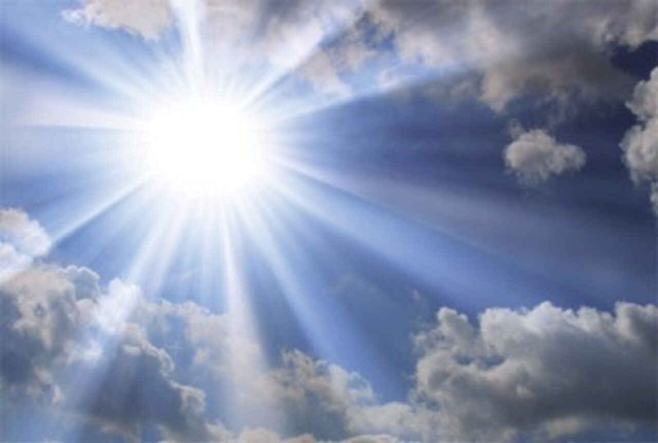 Worldwide Peace Healing Through Prayer Sun Bursting In Clouds